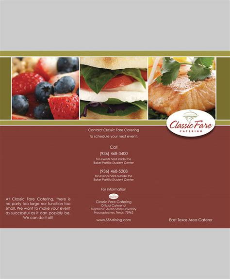 Catering Brochure Templates by 8 Corporate Catering Brochures Designs Templates