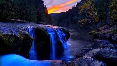 Waterfall Nature Desktop Wallpapers Backgrounds Computer Mountain