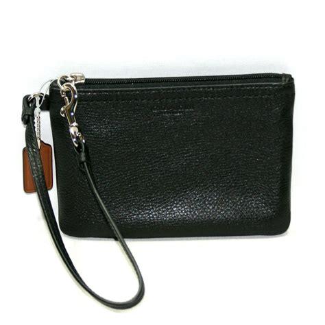 purse organizer for coach park leather small wristlet black 51763 coach 51763