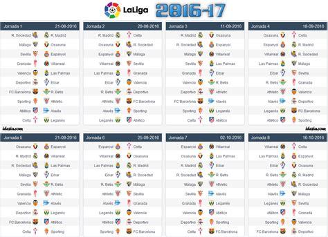 la liga table 2016 17 spanish la liga 2017 18 fixtures full schedule pdf with