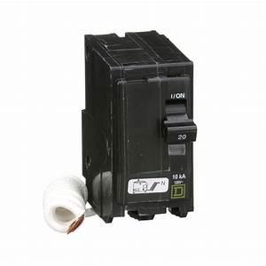 Square D Qo220swn   Miniature Circuit Breaker 120v 20a