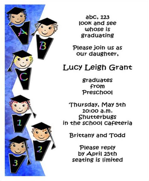 7 graduation program templates pdf word 601 | Preschool Graduation