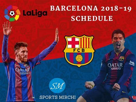 Barcelona Fixtures Today