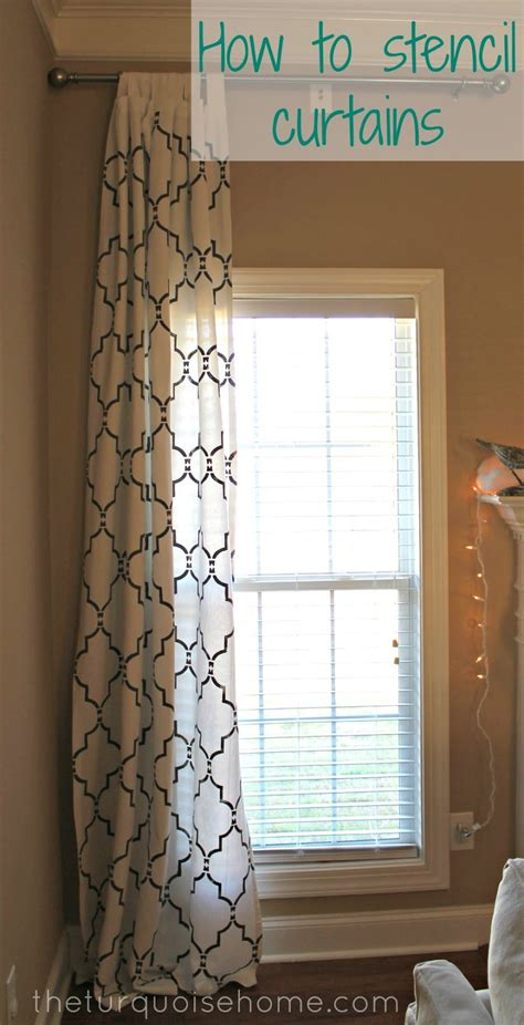 do curtains to match do this with the curtains to match the dining room wall pattern love it how to stencil