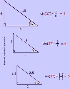 Sine  Cosine And Tangent Ratios Of A Triangle  How To
