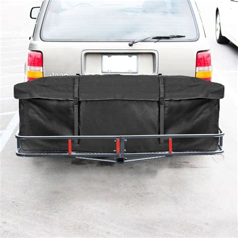 cross bar universal 60 quot cargo carrier hitch mounted receiver hauler luggage