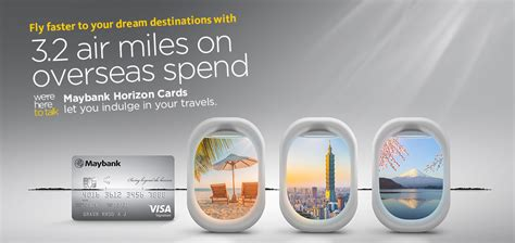 $1,000 per transaction and per day: 3.2 miles per dollar on foreign transactions using Maybank Horizon credit card from 1 till 30 ...