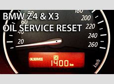 How to reset oil service inspection in BMW Z4 & X3 SRL