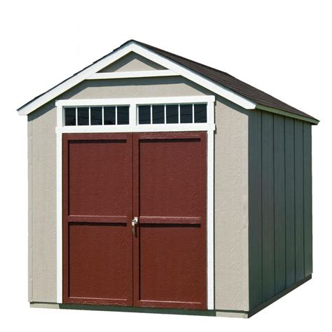 Home Depot Backyard Sheds by Handy Home Products Installed Majestic 8 Ft X 12 Ft Wood