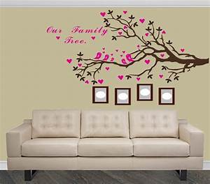 20 best ideas of family tree wall art for The best of family decals for walls