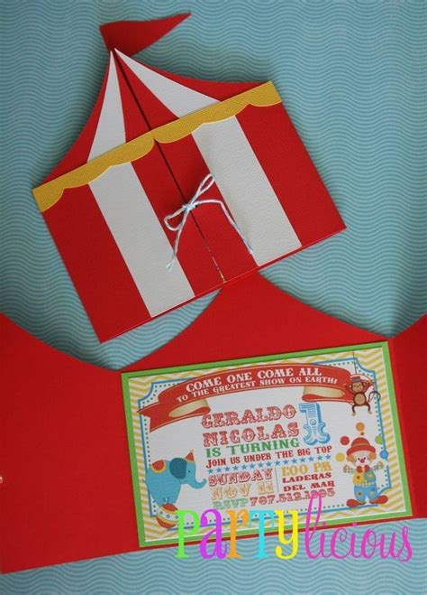 party invitations excellent circus party invitations