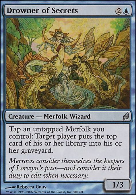 mtg modern decks tapped out drowner of secrets lrw mtg card