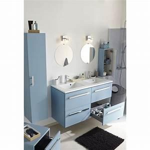 meuble de salle de bains neo bleu baltique salle de With porte de douche coulissante avec meuble salle de bain decotec bento