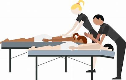 Massage Spa Clipart Treatment Chair Bed Couples