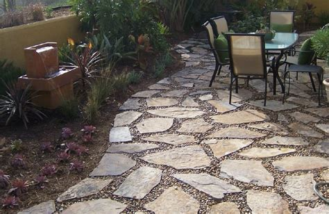 Flagstone Patio Designs by The 2 Minute Gardener Photo Flagstone Patio With Pebbles