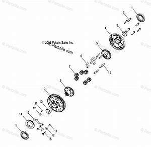 Polaris Atv 2007 Oem Parts Diagram For Transmission