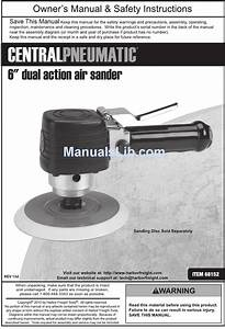 Central Pneumatic 68152 Owner U0026 39 S Manual And Safety