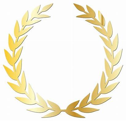 Laurel Wreath Clipart Yellow Award Gold Clipground