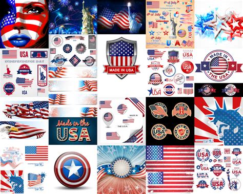 Usa Sign Symbols Vector