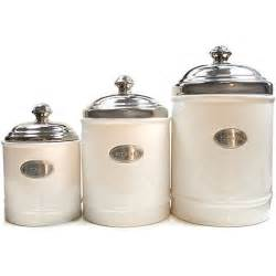 ceramic canisters for the kitchen fifth avenue white canisters with metal plated