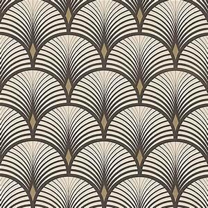 Papier Peint Noir Et Doré : papier peint baker vinyle sur intiss graphique noir et dor in 2019 art deco papier peint ~ Melissatoandfro.com Idées de Décoration