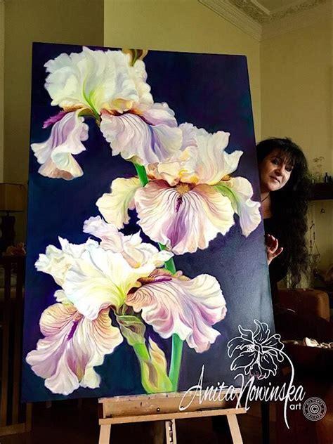 ascendency big iris flower painting   iris