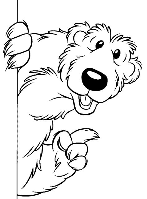 bear   big blue house coloring pages  kids updated