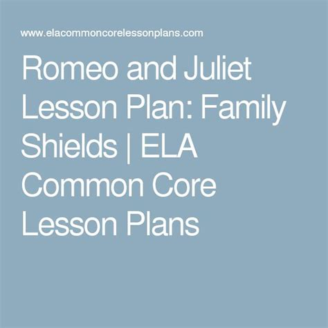 Romeo And Juliet Lesson Plan Family Shields Ela Common 9 Best Connotations Denotation Images On