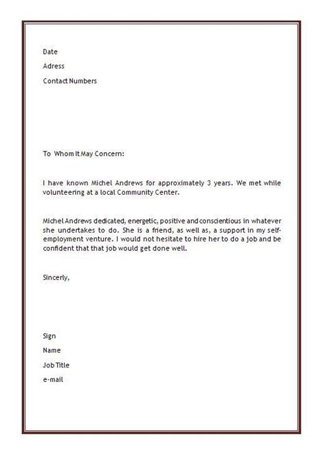 recommendation letter sample  student elementary http