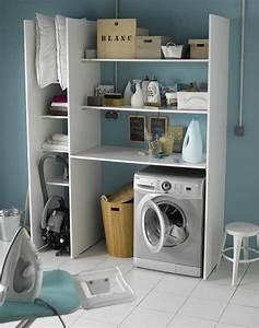 Meuble Rangement Buanderie : un meuble pratique pour un coin buanderie leroy merlin ~ Melissatoandfro.com Idées de Décoration