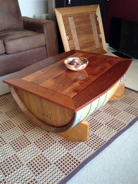 wine barrel coffee table diy projects