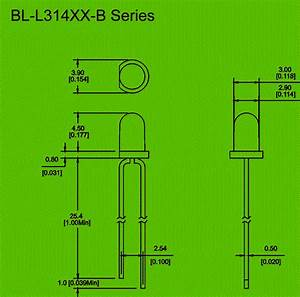 3mm Blinking Led Diode Circuit And Dimension