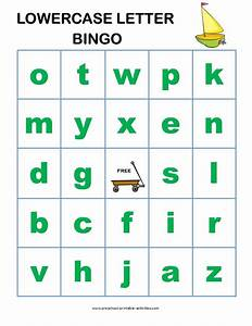 Letter recognition bingo game for preschoolers boards for for Learning lowercase letters game