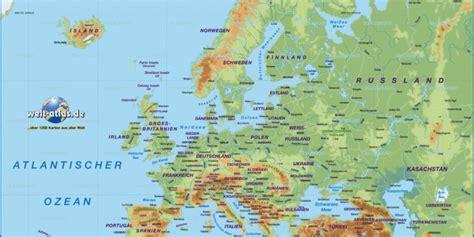 karte von europa uebersichtskarte regionen der welt