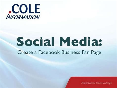create a fan page on facebook without a profile small business marketing 101 create a facebook business