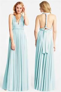 Bleu Vert D Eau : chic robe maxi vert d 39 eau longue dos nu pour t moin ~ Preciouscoupons.com Idées de Décoration
