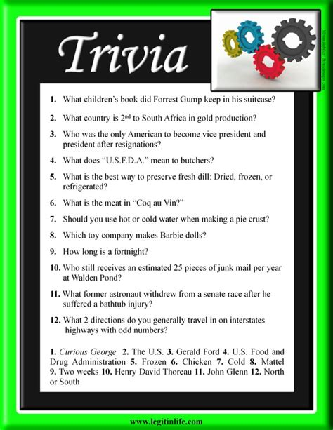 funny trivia questions and answers printable movie