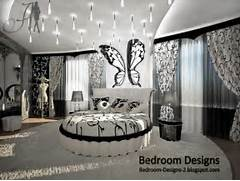 Black And White Master Bedroom Ideas Black And White Master Bedroom Design Idea Whit Round Bed Curtains