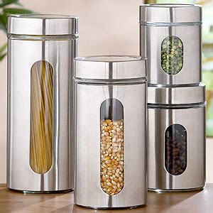 contemporary canisters for the kitchen glass storage jars sets of 2 storage containers 8307