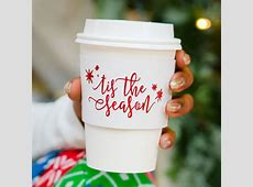 Insulated Cardboard Paper Christmas Coffee Cup Sleeves