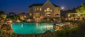 Landscape Lighting Annapolis Md Maryland Custom Inground Swimming Pools Pool Installation Md