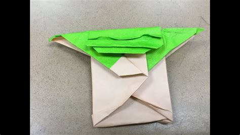Cover Origami Yoda Good Quality Step by Step - YouTube
