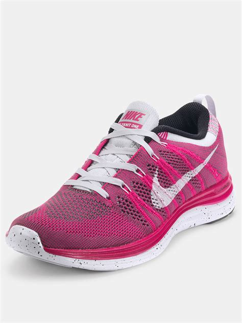 nike nike flyknit lunar 1 trainers in white for pink white lyst