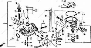 Honda Motorcycle 1994 Oem Parts Diagram For Carburetor
