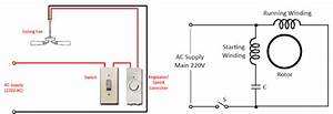 Celling Fan Wiring Diagram With Capacitor Connection