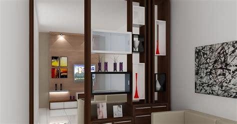 kitchenset pelangi desain interior partisi pembatas ruang keluarga  ruang tamu