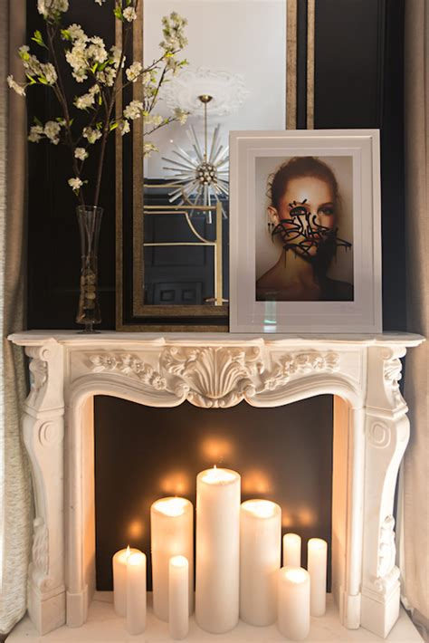 candles in fireplace fireplace design ideas