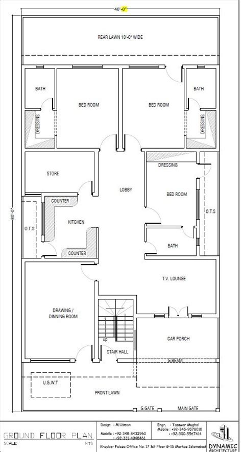 house plan drawing  islamabad design project