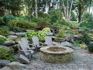 Rustic Fire Pit Seating Area Ideas