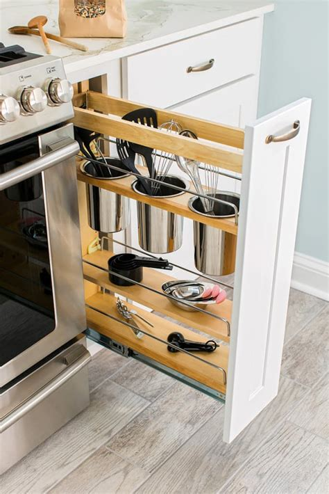 narrow pull out pantry cabinet 24 creative small kitchen storage ideas shelterness